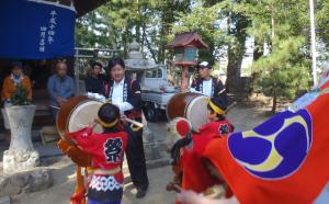 地元大歳神社のお祭りに参加